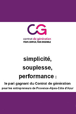 Le contrat de generation simple souple performant for Chambre de commerce paca